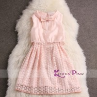 Pink blossom dress / gaun pesta anak korea pink branded
