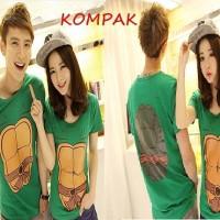 Kaos Couple Turtle
