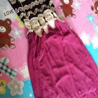 dress brukat tulang pink