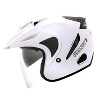 Helm MDS PROJET2 Putih White Double Visor Half Face Project 2