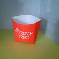Kardus Box Kentang French Fries KECIL 50 Pcs -Kemasan Kentang Goreng