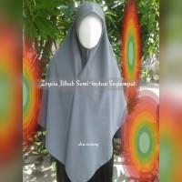 Zoysia Jilbab Semi Instan Segi Empat Bahan Wolvis