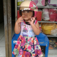 Helmet Retro Anak Perempuan Karakter
