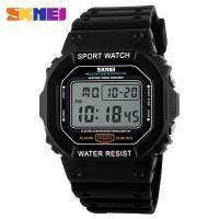 jam tangan pria / cowok original model casio 1134 Skmei hitam putih