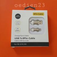 Kabel Data Lightning 3 meter for iPhone,iPad&iPod bisa Sync iTunes