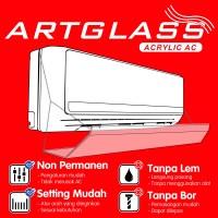 Penahan hembusan ac / akrilik ac / talang ac / material akrilik 80cm