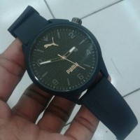 Jam Tangan Puma Atomic Date Kw Super Black Jarum Krem