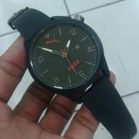 Jam Tangan Puma Atomic Date Kw Super Black Jarum Merah