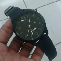 Jam Tangan Puma Atomic Date Kw Super Black Jarum Putih
