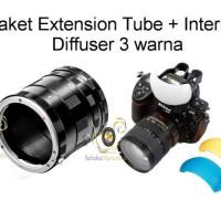 Paket Hemat Extension Tube Nikon + Diffuser Internal 3 Warna
