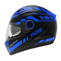 Helm MDS Provent Black Blue Full Face Double Visor Fullface