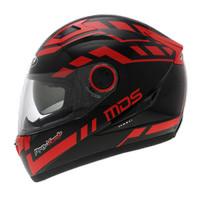 Helm MDS Provent Black Red Full Face Double Visor Fullface