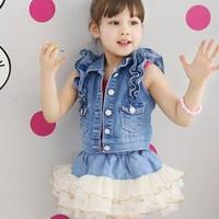 Baju Anak - Jeans Tutu Set (GI-709)