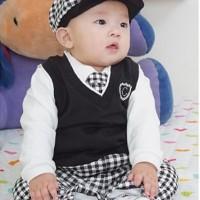 Baju Anak - 5in1 Black Boy Set (BO-141)