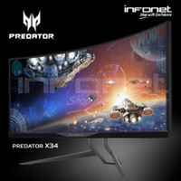 "Acer Predator X34 Curved Monitor 34"" IPS UltraWide QHD NVIDIA G-Sync"