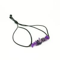 Boho Amethyst Strap Bracelet Gelang Kristal Hippie Natural