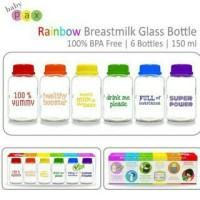 Baby Pax Rainbow Breastmilk Glass Bottle  Edisi Botol Pelangi