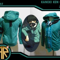 Kaneki Ken Green Jacket Jaket Kostum Cosplay Anime Jepang Tokyo Ghoul