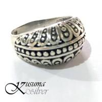 Cincin Ring Perak Silver Bali Bulir Paku Dot Lebar 925 Pria Wanita