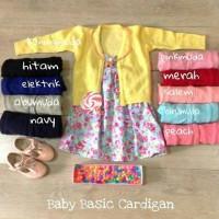 Baby Basic Cardigan utk Bayi / Balita / Anak Perempuan / Cewek
