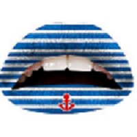 Twl Cosmetics Temporary Lip Tattoo - Blue & White Anchor