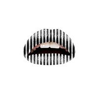 Twl Cosmetics Temporary Lip Tattoo - Black & White Stripes