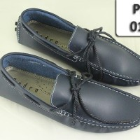 Pedro Navy Synthetic Leather tali Tag 1058-511
