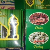 Paket oleh oleh Haji & Umroh kardus mini khas saudi arabia