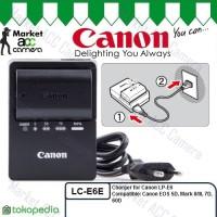 Charger Canon LC-E6/LC-E6E for LP-E6 (EOS 6D, 70D, 80D, XC10, XC15)