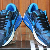 Sepatu Running,sepatu olahraga,sepatu lari Nike Airmax High Biru Army