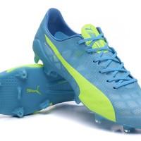 Sepatu bola Puma evospeed SL FG Light Blue Volt
