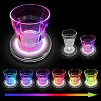 Gelas Minum Unik Sensor Air LED Berubah Menyala 7 Warna / Gelas Disko