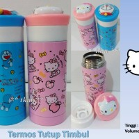 TERMOS TUTUP TIMBUL / HELLO KITTY / DORAEMON / STAINLESS / BOTOL AIR