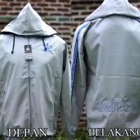 Jaket Adidas Abu List Biru Parasut (jaket termurah,sport,bola,2016)