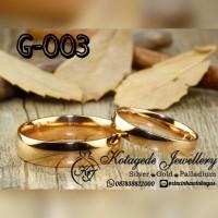 Cincin Kawin Nikah Tunangan Emas G-003
