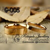 Cincin Kawin Nikah Tunangan Emas G-005