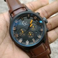 jam tangan gc chrono letaher brown
