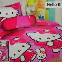 sprei motif hello kitty pink balon