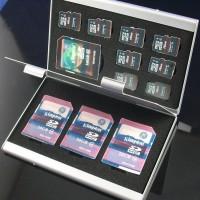 Metal 12 In 1 Box Tas Photography Bag 8 Micro SD 4 SD Card Storage Box