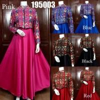 Gamis Rompi Sari India Cantik/Dress Set Cardi Mewah/Baju Pesta Modern
