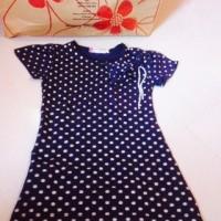termurah baju dress anak cewek import motif polkadot