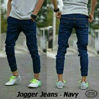 Jogger Jeans Murah/Jogger Jeans Pria/ Jogger Pants Jeans Zanevo-Navy