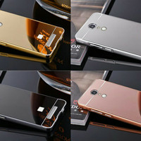 Alumunium Bumper + Backdoor Slide Mirrror Xiaomi Redmi Note 3