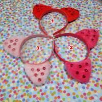 Bando Ear Cat Pink Payet