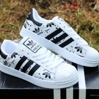 Adidas Superstar Putih Strip HItam(sepatu kets,casual,sport,pria,sneak