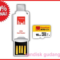 Strontium 16GB NITRO MicroSD with OTG Card Reader up to 65 mb/s
