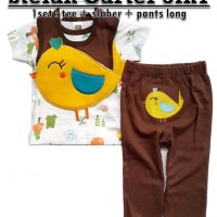 Carter's Setelan 3in1 Tee + Longpant + Bibs / Slabber | Baju Bayi