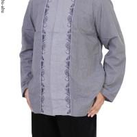 Baju Pria Muslim Koko Lengan Panjang Terbaru Katun Motif Bordir