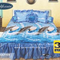 Sprei Rumbai California 3D Dolphin UK 180X200