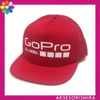 Topi GoPro Trucker Datar Merah Full